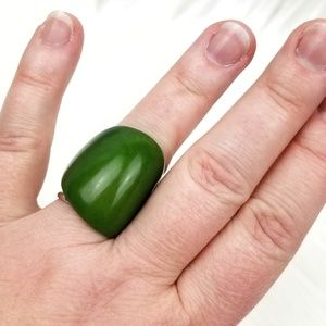 Chunky Green Ring
